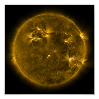 Actividad solar el Sun 4 Póster