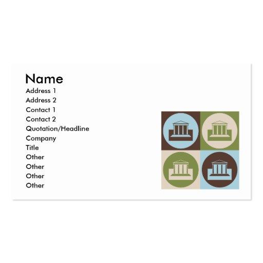 Actividades bancarias del arte pop tarjetas de visita