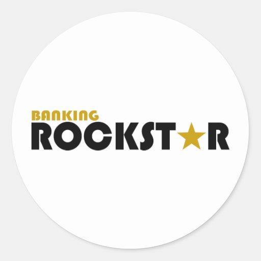 Actividades bancarias Rockstar Pegatina Redonda
