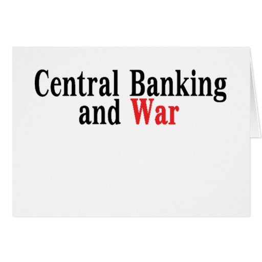 Actividades bancarias y guerra centrales tarjeta de felicitación