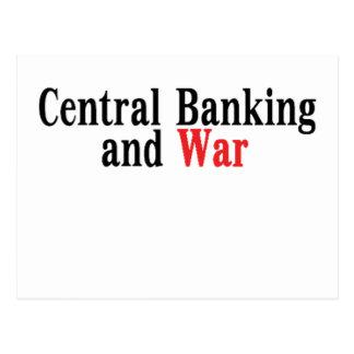 Actividades bancarias y guerra centrales tarjetas postales