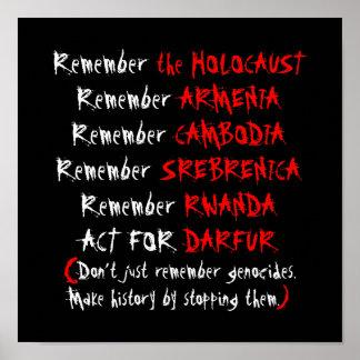 Activism Don t just remember genocides Poster
