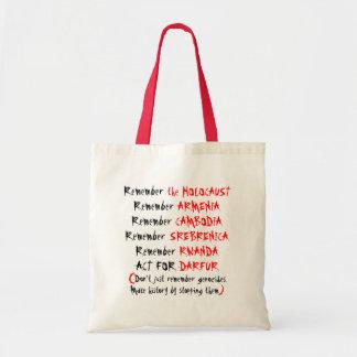 Activism: Don't just remember genocides... Tote Bag