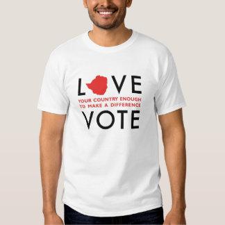 Activismo social - camiseta del voto playera