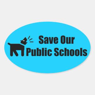 Activist Dog: Save Our Public Schools Oval Sticker