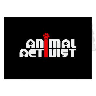 Activista animal tarjeta de felicitación