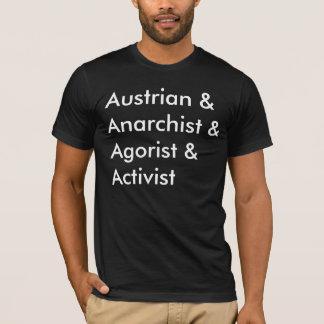 Activista austríaco de Agorist del anarquista Playera