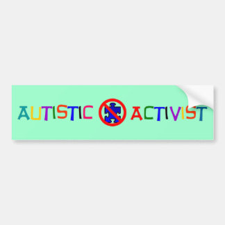 Activista autístico pegatina para auto