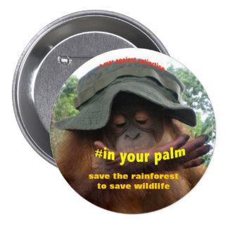 Activista de la protección para el bienestar pin redondo de 3 pulgadas