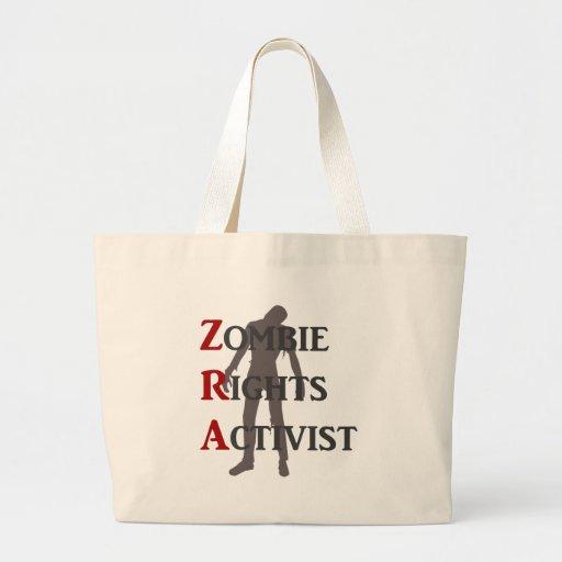 Activista de las derechas del zombi bolsa tela grande