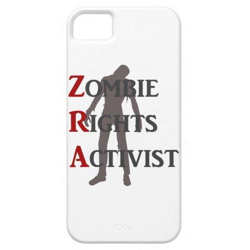 Activista de las derechas del zombi iPhone 5 protectores