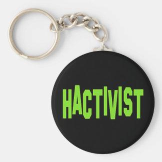 Activista del pirata informático de Hactivist Llavero Redondo Tipo Pin