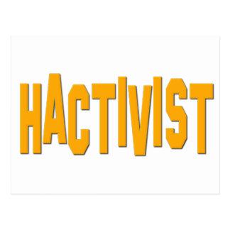 Activista del pirata informático de Hactivist Postal