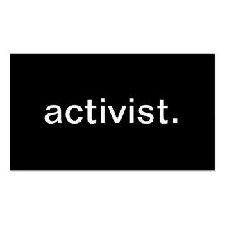 Activista Tarjetas De Visita