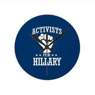 ACTIVISTS FOR HILLARY CLINTON ROUND CLOCK