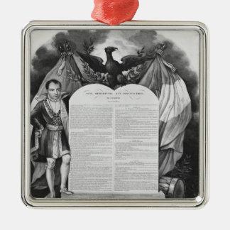 Acto adicional del 22 de abril de 1815 adorno navideño cuadrado de metal