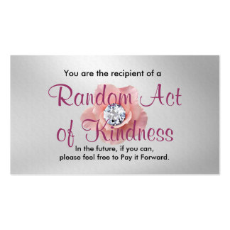 Acto al azar de las tarjetas de la amabilidad tarjeta de visita