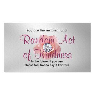 Acto al azar de las tarjetas de la amabilidad tarjetas de visita