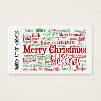 Acto al azar de las tarjetas de Navidad de la