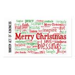 Acto al azar de las tarjetas de Navidad de la amab Tarjeta De Negocio