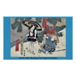Acto cinco del Chushingura por Utagawa, Kuniyasu Impresiones