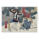 Acto cinco del Chushingura por Utagawa, Kuniyasu Felicitaciones