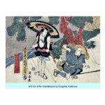 Acto cinco del Chushingura por Utagawa, Kuniyasu Postales