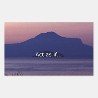 Acto como si…. pegatina rectangular