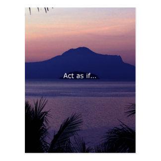 Acto como si…. postal