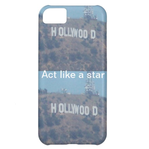 Acto como una estrella de Hollywood