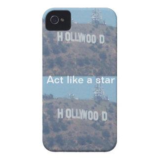 Acto como una estrella de Hollywood Case-Mate iPhone 4 Protectores