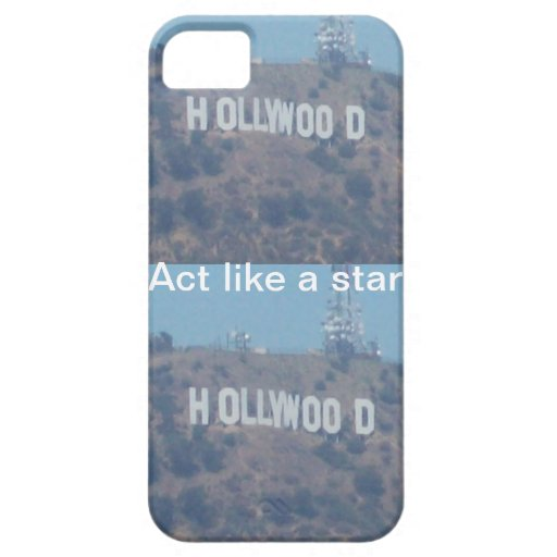 Acto como una estrella de Hollywood iPhone 5 Cárcasa