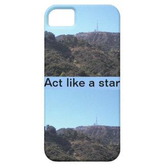 Acto como una estrella de Hollywood iPhone 5 Cárcasas