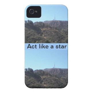 Acto como una estrella de Hollywood iPhone 4 Case-Mate Protectores