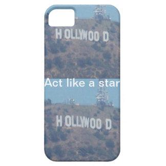 Acto como una estrella de Hollywood iPhone 5 Funda
