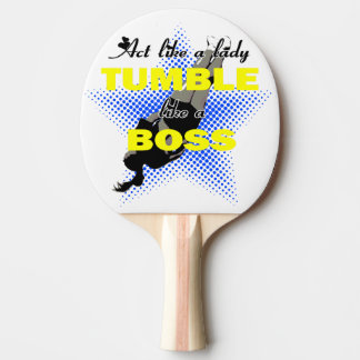 Acto como una señora que cae pala de ping pong