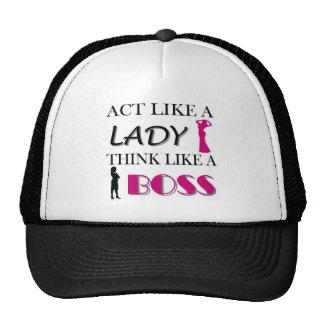 Acto como una señora Think Like A BOSS Gorros