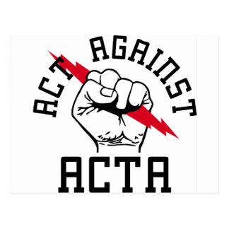 Acto contra ACTA Tarjetas Postales