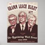 Acto de Bliley de la lixiviación de Gramm Poster
