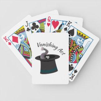 Acto de desaparición barajas de cartas