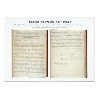 Acto de Kansas-Nebraska (1854) Invitación 12,7 X 17,8 Cm