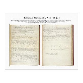 Acto de Kansas-Nebraska (1854) Impresiones De Lienzo