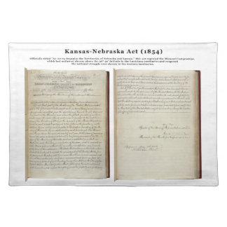 Acto de Kansas-Nebraska (1854) Manteles