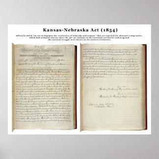 Acto de Kansas-Nebraska (1854) Posters