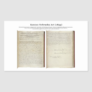 Acto de Kansas-Nebraska (1854) Rectangular Pegatinas