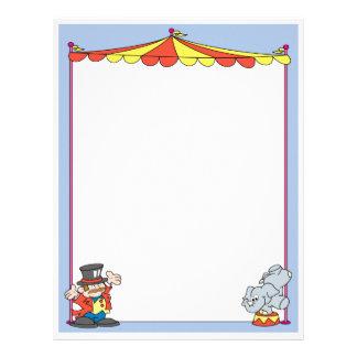 Acto del elefante del circo membretes personalizados