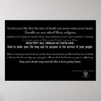 Acto del poema del valor - poema por TECUMSEH Póster