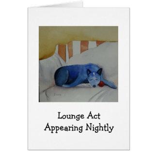 Acto del salón que aparece cada noche tarjeta pequeña