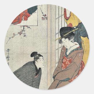 Acto dos del chushingura por Kitagawa, Utamaro Etiqueta Redonda