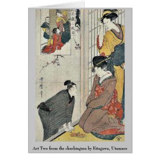 Acto dos del chushingura por Kitagawa, Utamaro Tarjeta Pequeña